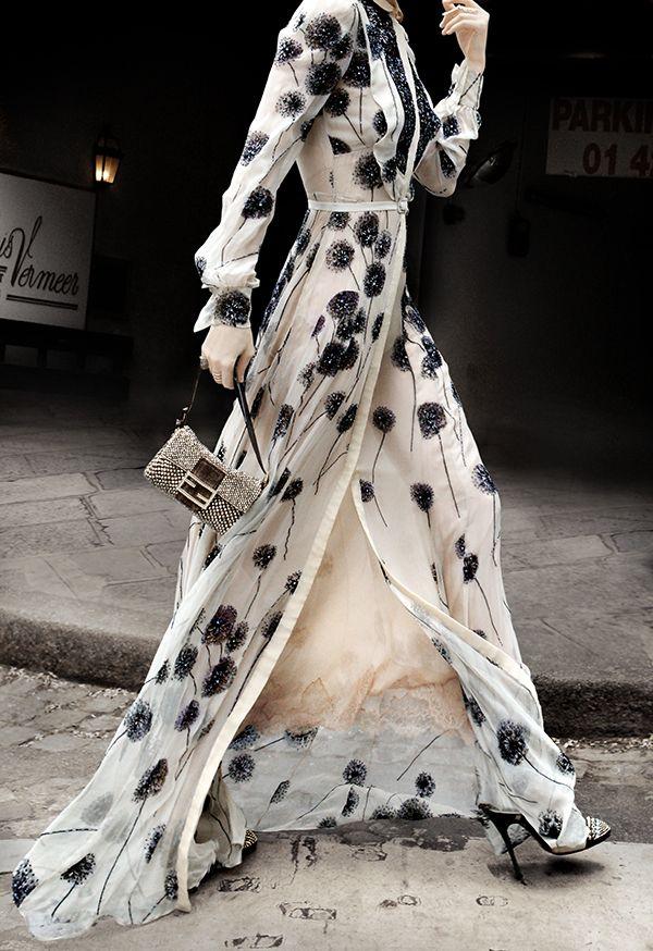 Valentino Haute Couture + fendi bag