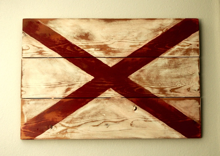 Alabama State Flag. $60.00, via Etsy.