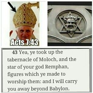 "TRIBE   OF   DAN    ACTS  7  : 43. Moloch THE same god the elite in US and UK worship at Bohemian Grove yearly in their property in California. Also at the temple on ""sex slave island"" which the Clintons were frequent guests"