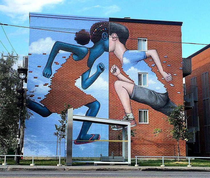 Street art Montreal Corner of Jarry and Papineau, by Seth Globepainter