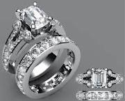 Art deco platinum antique wedding rings