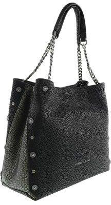 Versace Ee1vqbbm3 Emen Roomy Shoulder Bag Logo Black/grey Shoulder Bag.