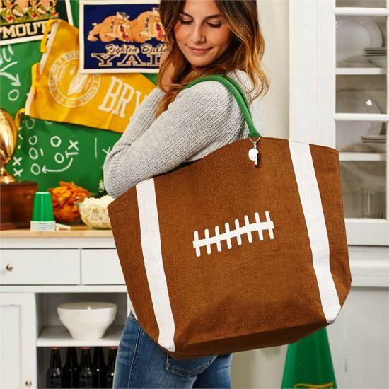 Football Jute Bag http://www.rhinestonegal.com/catalog.php?item=1135