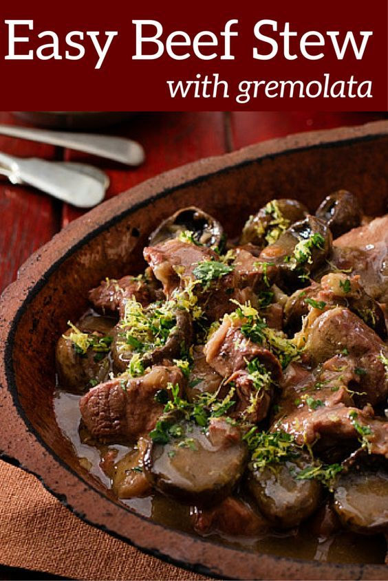 This easy recipe for Beef Stew with Gremolata can be prepared in the crockpot, slow cooker or Wonderbag. Your house will smell diving while it slowly cooks away until the meat is tender. Stews are so nourishing and healthy, real comfort food for your body and soul.: