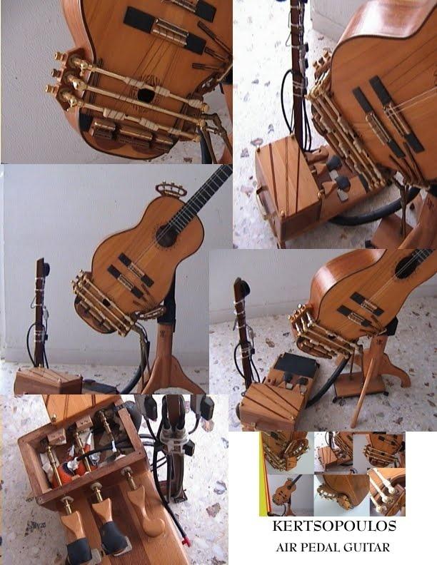 """Kertsopoulos pneumatic pedal guitar details"""
