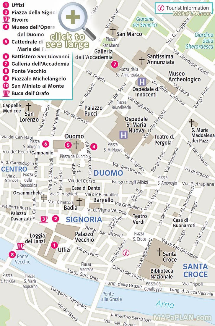 1000 images about Florence top tourist attractions city travel – Florence Tourist Attractions Map