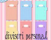 Personal dividers for filofax - pois with labels - divisori a pois con etichette formato personal per filofax ... https://www.etsy.com/it/shop/LaliLunaStore