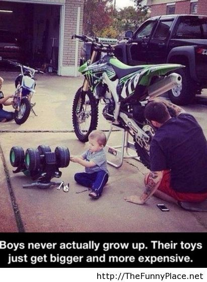Like father like son, funny picture