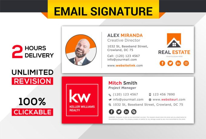 An Email Signature Is Your Digital Business Card And Its A Medium To Connect With Clients And Sh Email Signatures Html Email Signature Email Signature Design