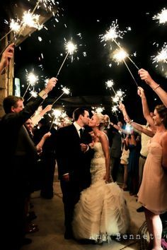 Duh. . Of course I'm having sparklers for my wedding.  Lol