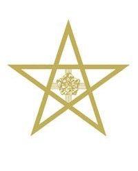 Pentagram met Rozenkruis - Lectorium Rosicrucianum