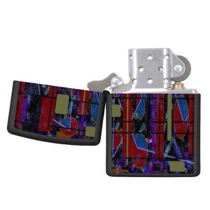 Lime Lite Zippo Black  Matte Pocket Lighter - accessories accessory gift idea stylish unique custom