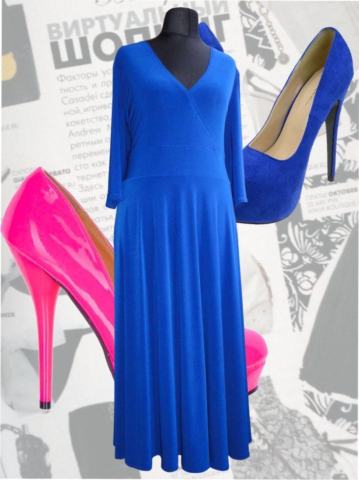 41$ Платье в пол модного цвета: синий электрик Артикул 418, р50-64 Платья больших размеров  Платья в пол больших размеров  Летние платья больших размеров Платья макси больших размеров  Длинные платья больших размеров  Платья нарядные больших размеров  Дизайнерские платья больших размеров Красивые платья больших размеров  Модные платья больших размеров  Стильные платья больших размеров