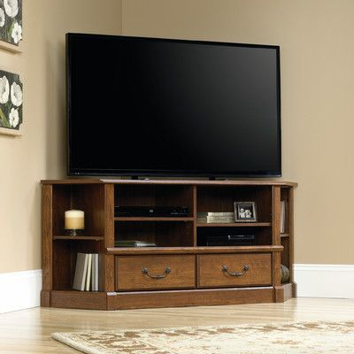 Three Posts Bauman Corner Entertainment Credenza TV Stand & Reviews | Wayfair
