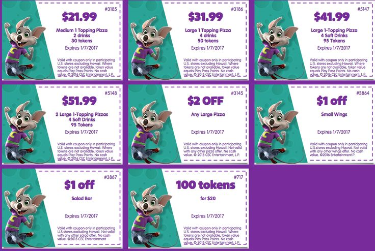 chuck e cheese coupons august 2017 and july 2017 printable coupons free tokens printable