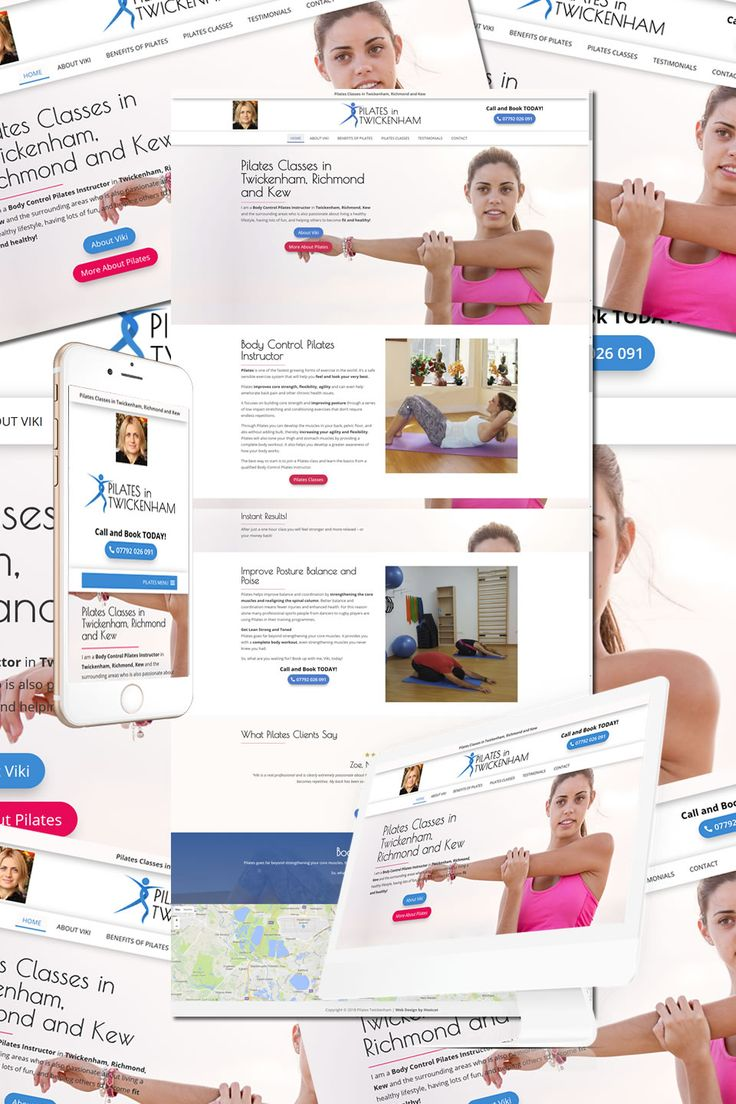 """The New Website for Pilates in Twickenham, Richmond and Kew is now """"Live"""" https://hostcat.co.uk/project/pilates-in-twickenham/"""