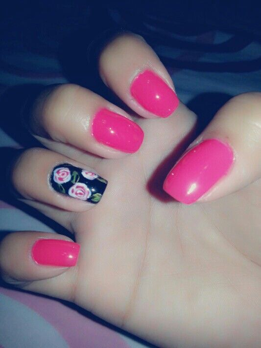 Neon style with a rose touch