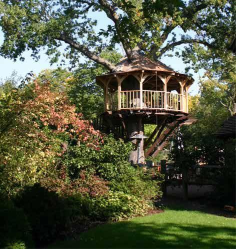 Linda casa na árvore