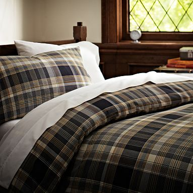 Cascade Plaid Bedding Bundle Black Westelm For The