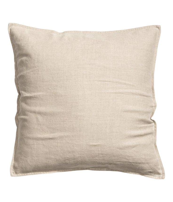 Check this out! PREMIUM QUALITY. Cushion cover in washed linen with concealed zip. Tumble drying will help keep linen soft. - Visit hm.com to see more.