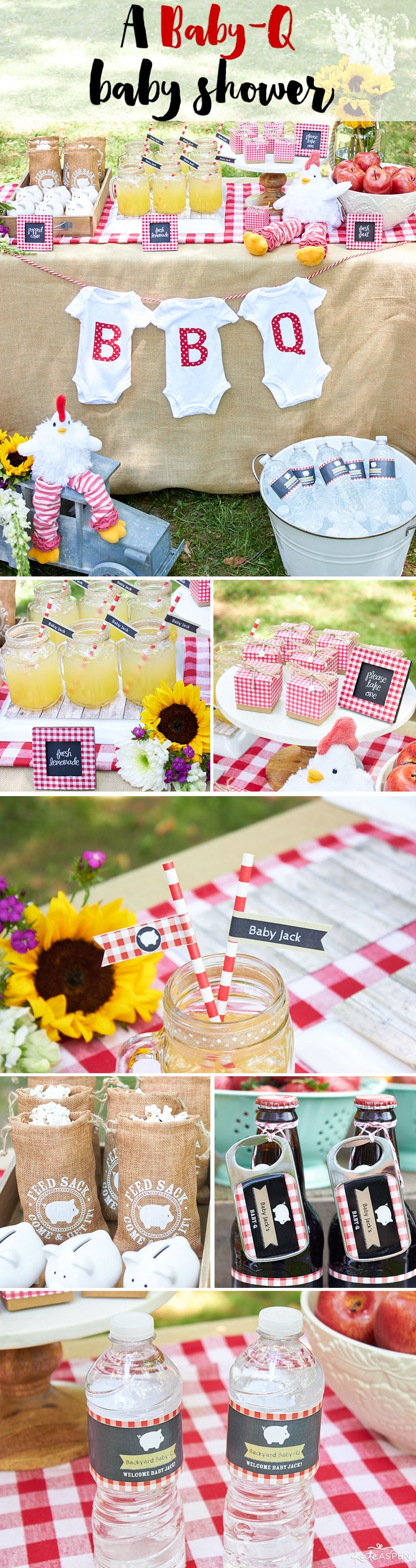 Warmer days are here, and what better reason to throw a BBQ than to celebrate the new baby on-the-way? A Baby-Q barbecue baby shower is the perfect theme for a laid-back co-ed shower!