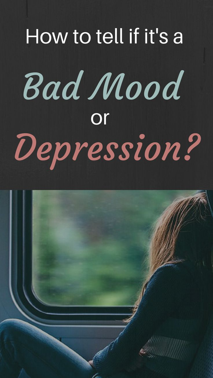 Though a bad mood might feel like depression, they're really two different things. http://www.ourmindandbody.com/destroy-depression/