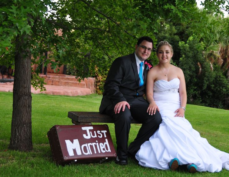 Just married! Suitcase packed and ready to venture to our new life!