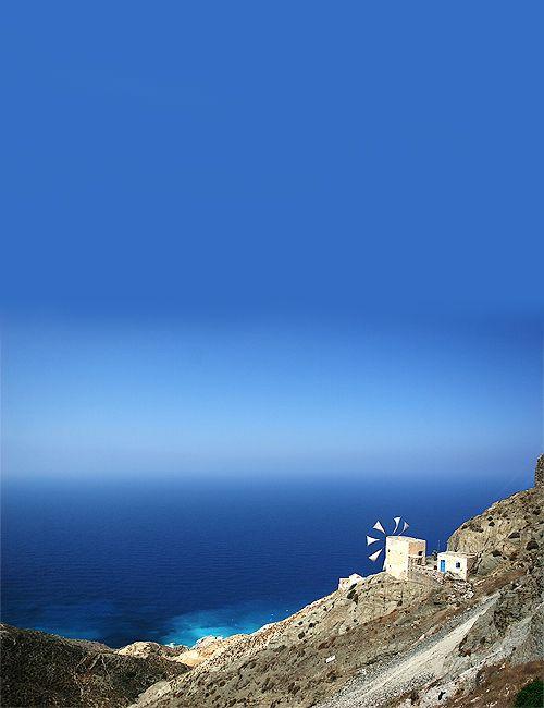 Windmill on the edge, Karpathos