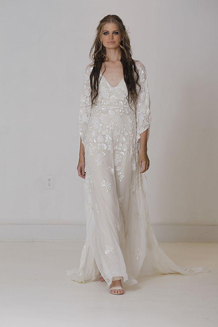Casual flowy white dress fashion style 2015 - Caftcan Silhouette Carol Hannah Fall 2015 Casual Wedding Dressesboho