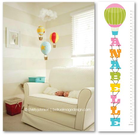 Balloon themed nursery ... darling darling hot hair balloon themed decor