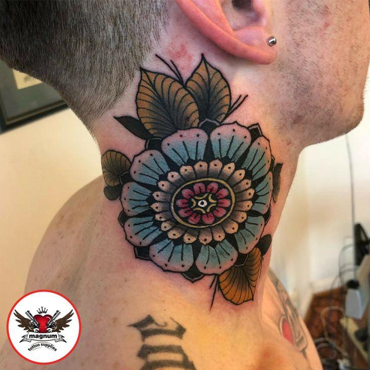 Niall Shannon did this neck piece done using #magnumtattoosupplies  #ink #tattoo #neotraditionaltattoo #taot #mandala #mandalatattoo #thebesttattooartists #uktta #radtattoos