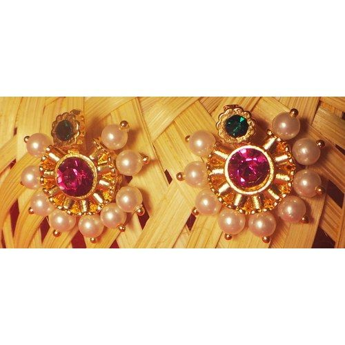 Online Shopping for Pearl Earrings | Earrings | Unique Indian Products by Maharaja Crafts International - MMAHA82032948600