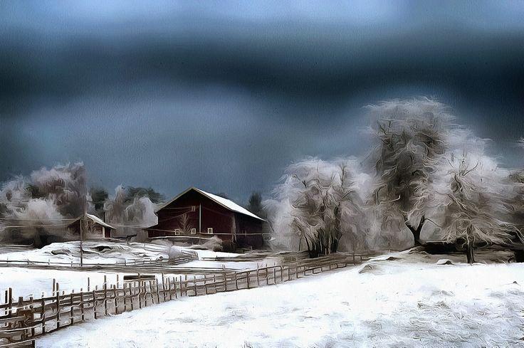 Winter Landscape. Holmlia, Oslo, Norway.