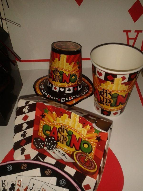 Decora para tu mesa de Casino. #FiestasTematicas #DecoracionFiestas