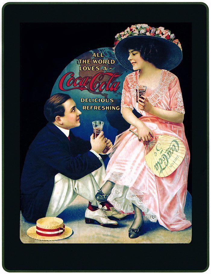 Coca-Cola 1890 | 1890's Lady & Gentleman - Coca Cola