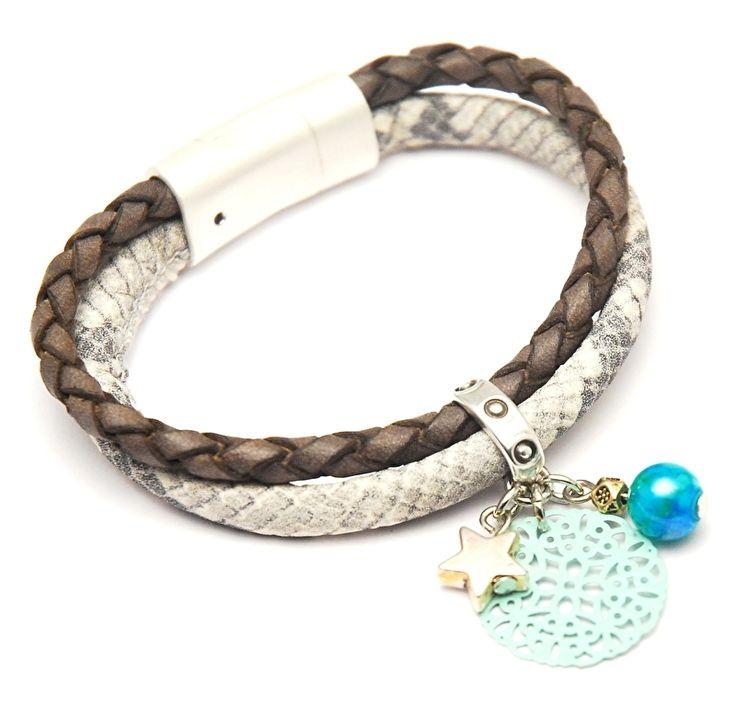 IBIZA style armband met luxe magneetsluiting