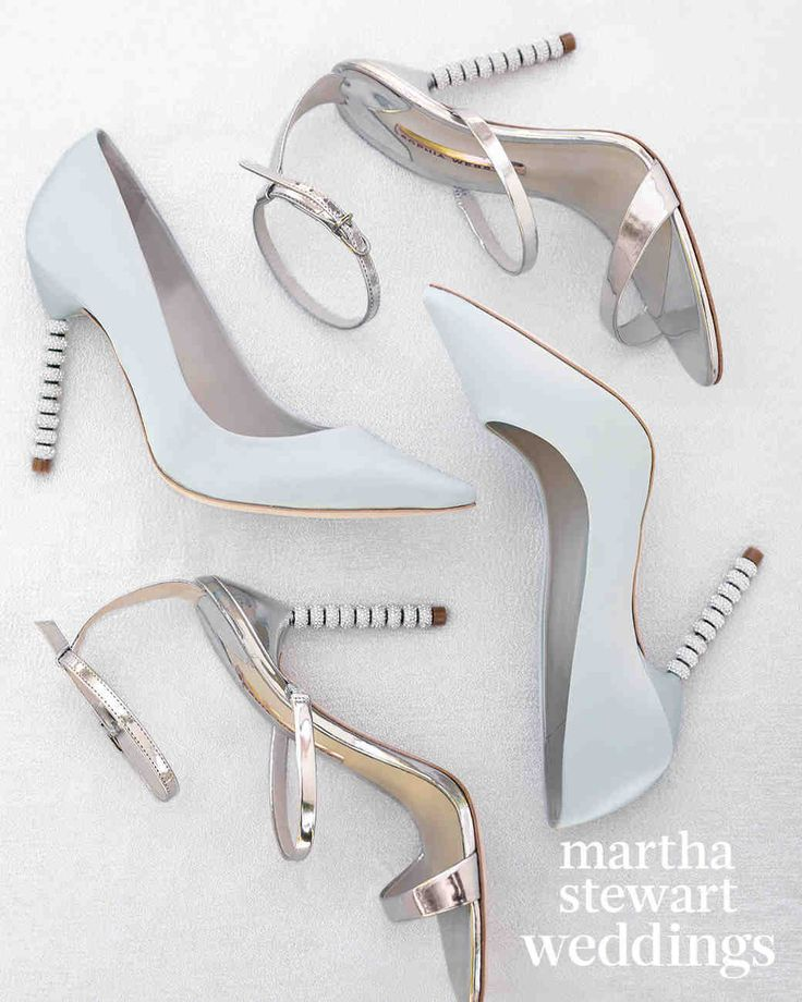"""Exclusive: See Samira Wiley and Lauren Morelli's Incredible Wedding Photos   Martha Stewart Weddings - The brides walked themselves down the aisle in Sophia Webster shoes—Samira in silver sandals and Lauren in white satin pumps that read """"Wifey for Lifey"""" on the soles."""