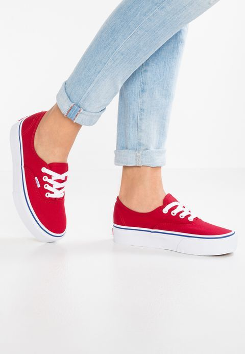 fd44ebca710b Vans AUTHENTIC PLATFORM 2.0 - Sneakers laag - red white - Zalando.nl