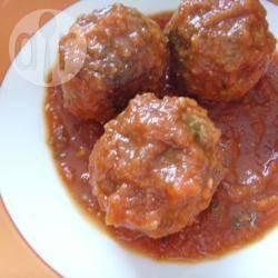 Foto de la receta: Albóndigas en chipotle