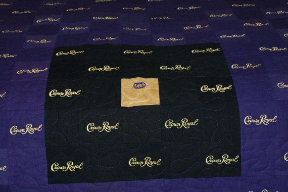 ***PLEASE NOTE - This quilt has NOT been made yet - it will be made to your specifications after this listing has been purchased*** This listing is for a custom made to order Crown Royal Quilt. You choose the size, pattern, colors and the amount of Crown Royal bags you would like included in the completed quilt. This quilt makes a great gift for your avid Crown Royal drinker. It makes a great gift for the hard to shop for spouse, a conversation starter in your home or the perfect addition to…