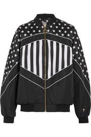 Wild Pitch reversible printed shell bomber jacket