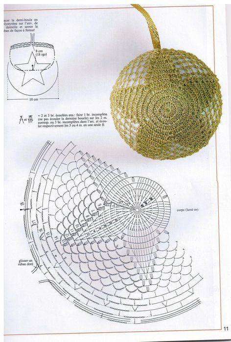 Crochet Star Ball - Chart