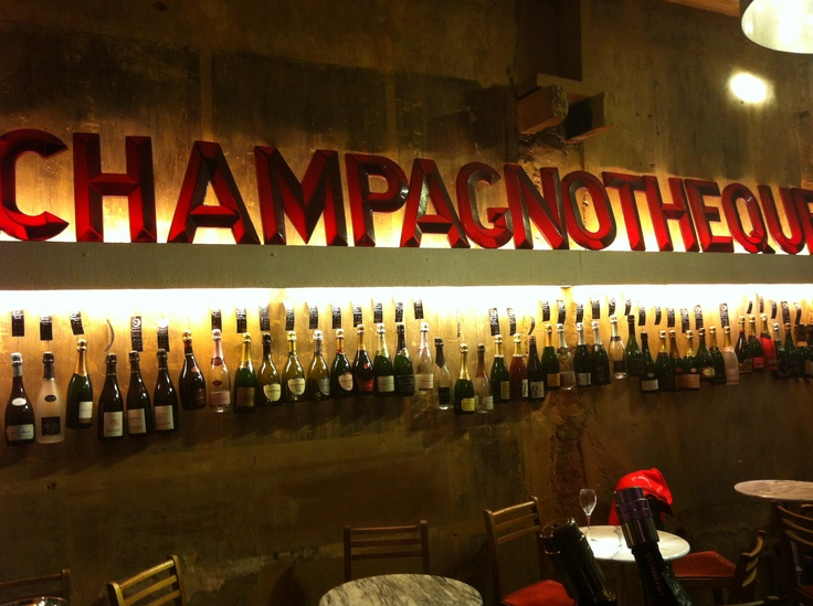 Wall of Bottles at the CHAMPAGNOTHÈQUE®