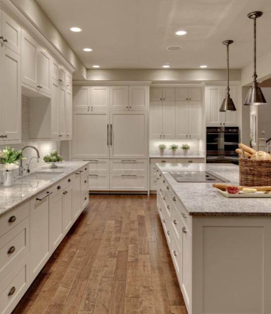 Modern Kitchen Cabinets Seattle: All White.