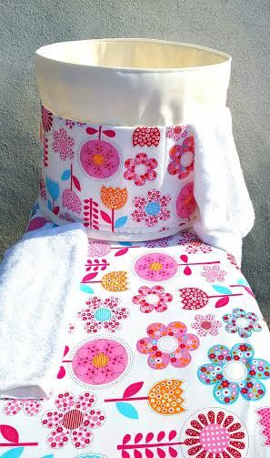 IRONING BOARD COVER Pink Fantasy Flowers by VintageFromChris