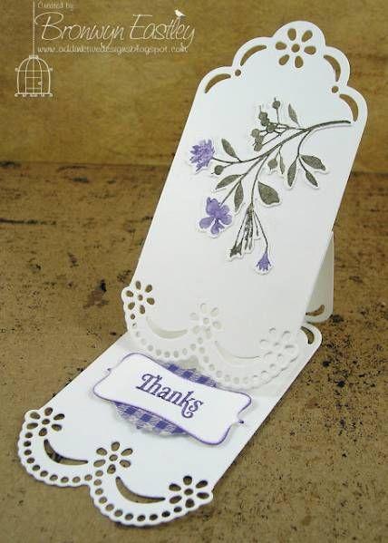 Tag Easel Card: Easel Cards, Cards Ideas, Papercraft, Tags Easels, Lavender Flower, Paper Crafts, Addinkt Design, Flower Names, Easels Cards