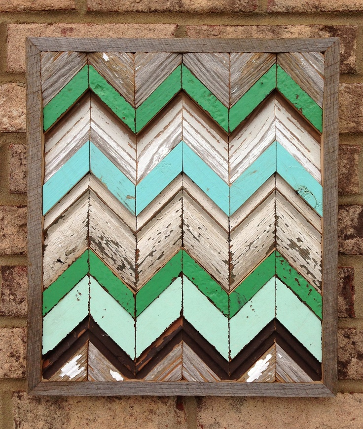 and more reclaimed wood chevron art!