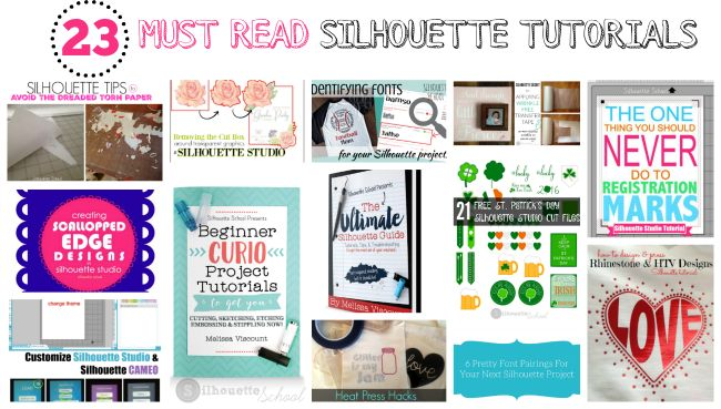 23 Silhouette CAMEO Tutorials You Need to Read (Now) ~ Silhouette School