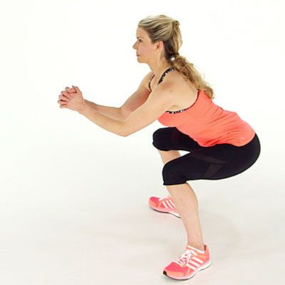 Boost your heart rate with this plyometric move, called the sumo jump squat. Try this do-anywhere cardio workout.