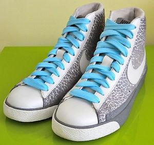 NIKE Blazer high sneaker basketball casual urban hightop shoe blue grey 8.5  EUC | eBay $24.99